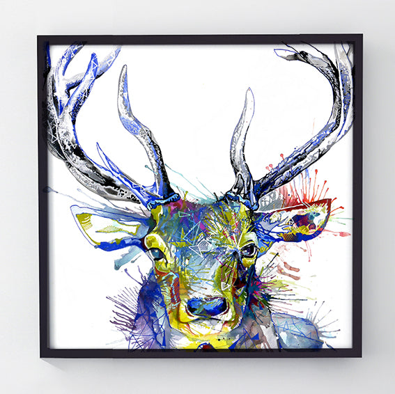 Invincible - Original Stag Painting-Originals-Sarah Taylor Art