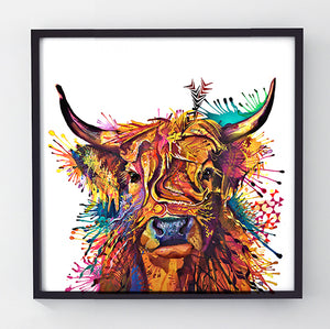 Prudence - Original Cow Painting