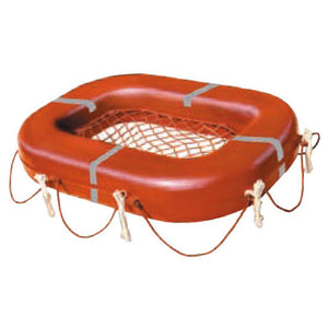 Jim Buoy Buoyant Apparatus Rectangular w/Net Platform - Life Raft and Survival Equipment, Inc.