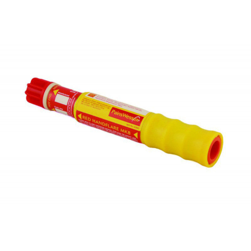 Pains Wessex Red Handflare - Life Raft and Survival Equipment, Inc.