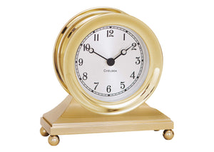 Chelsea Constitution Clock in Brass - Life Raft and Survival Equipment, Inc.