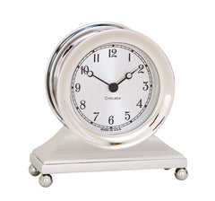 Chelsea Constitution Clock in Nickel - Life Raft and Survival Equipment, Inc.