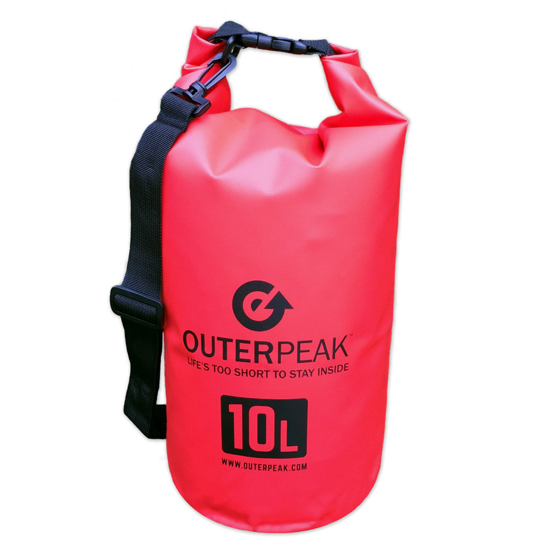 OuterPeak 10L Waterproof Dry Bag with Shoulder Strap