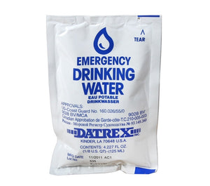 4 oz. Emergency Drinking Water - Life Raft and Survival Equipment, Inc.