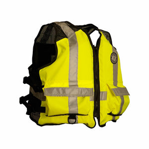 Mustang Industrial Mesh Work Vest High Visibility - Life Raft and Survival Equipment, Inc.