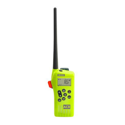 ACR SR203 VHF Handheld Survival Radio - Life Raft and Survival Equipment, Inc.