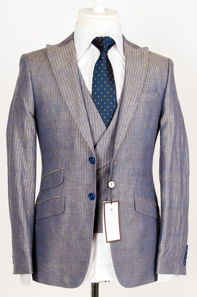 Finitura Felice - Lavender and tan 3-Piece slim Fit Suit