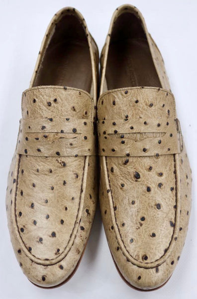 Connaisseur - Tan with dark brown elevated spots dress loafer
