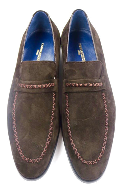 Connaisseur -  Coffee brown swede dress loafer