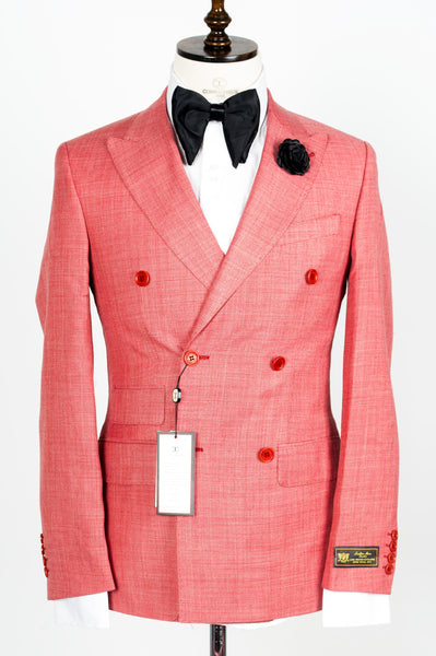 Connaisseur - Bubble Gum Double Breasted Slim fit suit