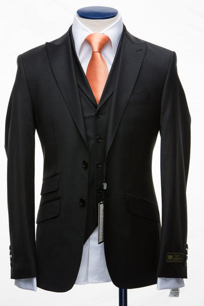 Connaisseur - Black 3-Piece Slim Fit Suit