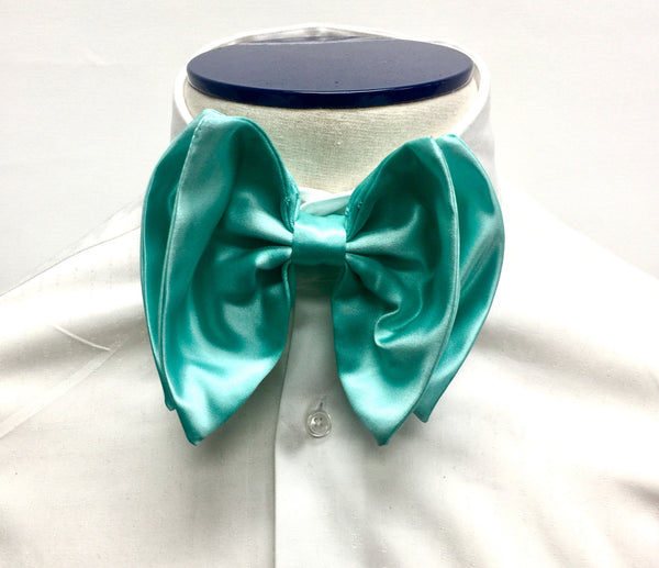 Turquoise Silk Butterfly Bow Tie