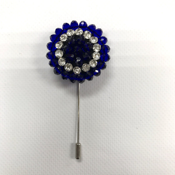 Royal Blue Crystal Lapel Pin