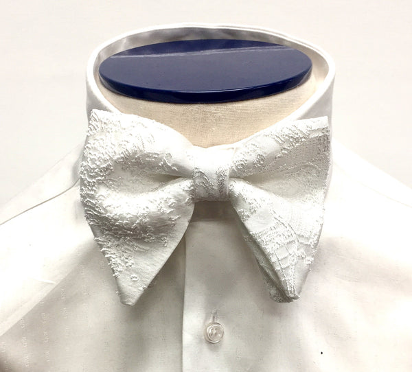Ivory Silk Butterfly Bow Tie