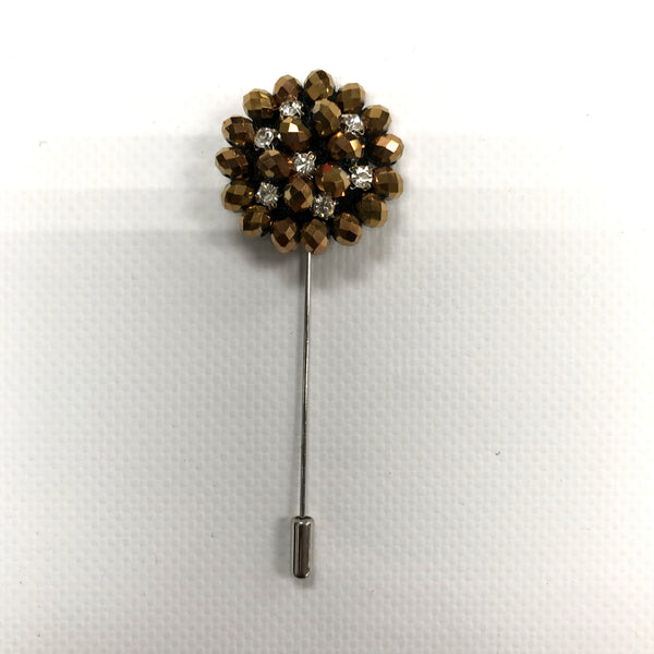 Gold Crystal Lapel Pin