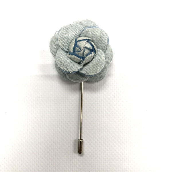Sky Blue Lapel Flower