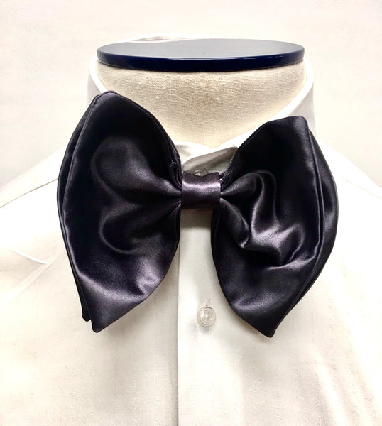 Grey Silk Butterfly Bow Tie