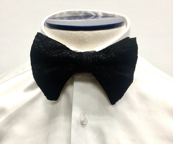 Black Ogee Butterfly Bow Tie