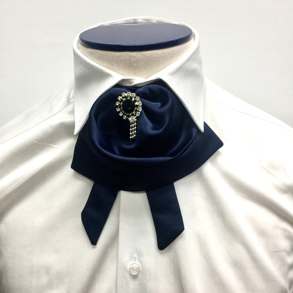 Navy Blue Puffy Bow Tie