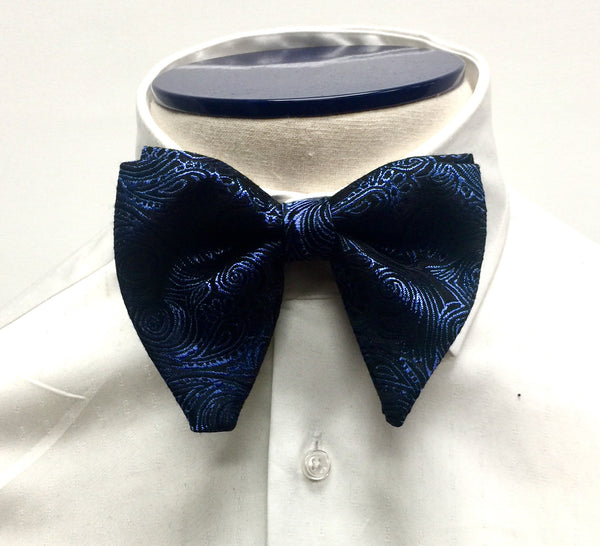 Blue Paisley Butterfly Bow Tie