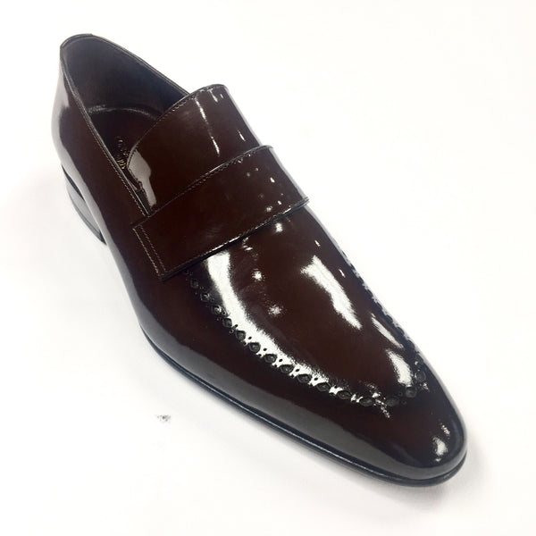 Connaisseur -  Brown Patent Leather Dress Shoes
