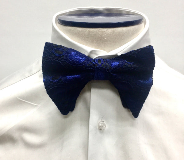 Blue Ogee Butterfly Bow Tie