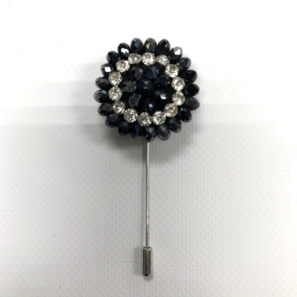 Grey Crystal Lapel Pin