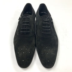 Connaisseur - Black suede buckle and lace Dress Shoes