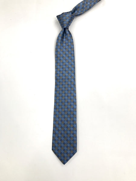 Aqua Diamond Pattern Silk Tie