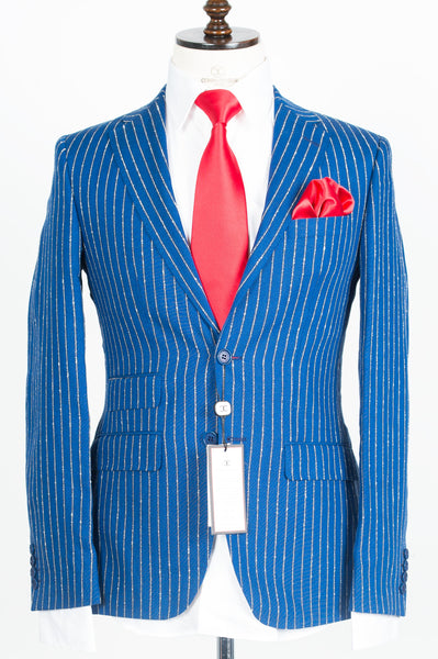 Vitale Barberis - Royal Blue pinstripe 2-Piece Suit