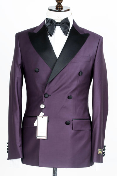 Connaisseur - Plum purple Double Breasted tuxedo