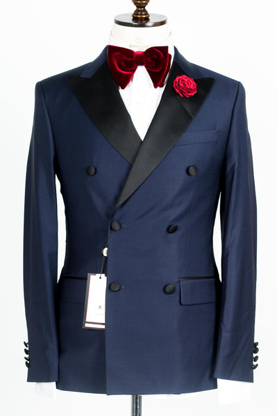 Connaisseur - Navy Blue Double Breasted tuxedo