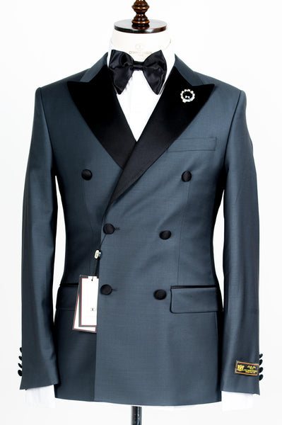 Connaisseur - Steel Grey Double Breasted tuxedo