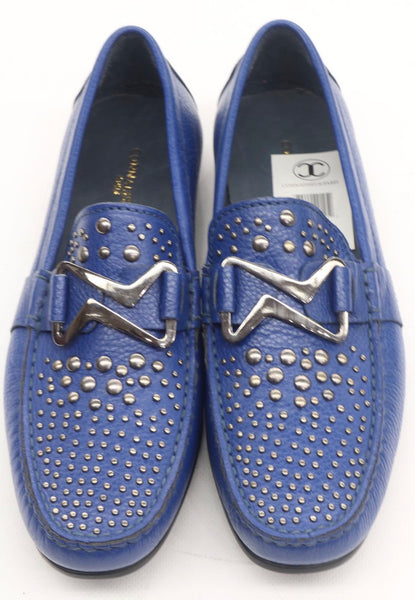 Connaisseur - Blue drivers with silver Studs loafer