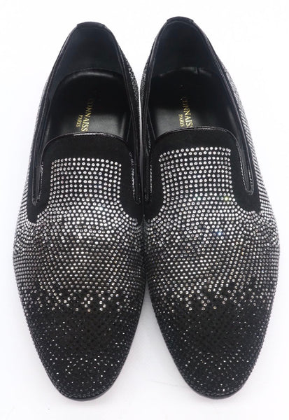 Connaisseur - Black suede with silver Studs Dress loafer