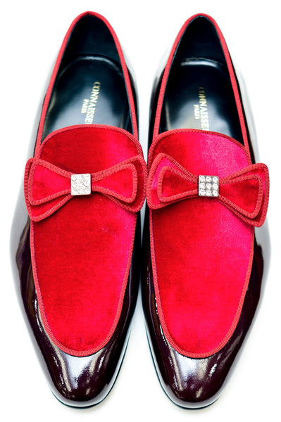Connaisseur - Burgundy and Red patent leather and swede Dress Shoes
