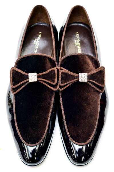 Connaisseur - Coffee Brown patent leather and swede Dress Shoes