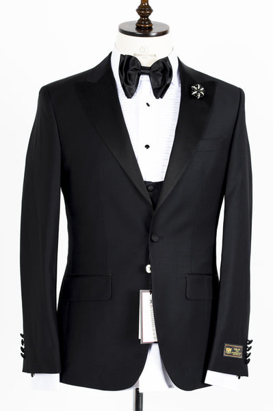 Connaisseur - Black Peak Lapel Slim Fit Tux