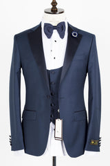 Connaisseur - Blue Notch Lapel Slim Fit Tux