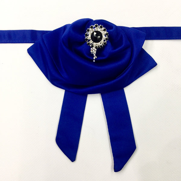 Royal Blue Fluffy Bow Tie