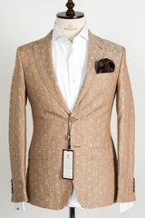Connaisseur - Tan block pattern Slim Fit Sportcoat