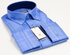 Connaisseur - Light blue pattern Slim Fit Shirt