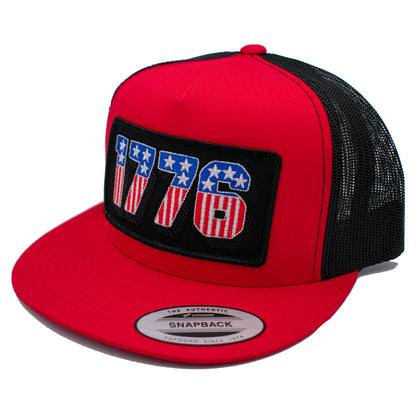 Feeling Patriotic 1776 Red Snapback Hat