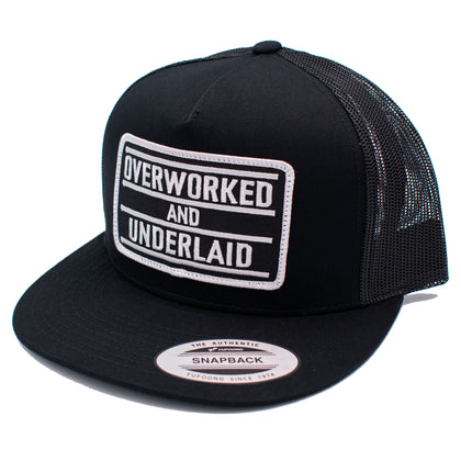 Overworked and Underlaid Snapback Hat