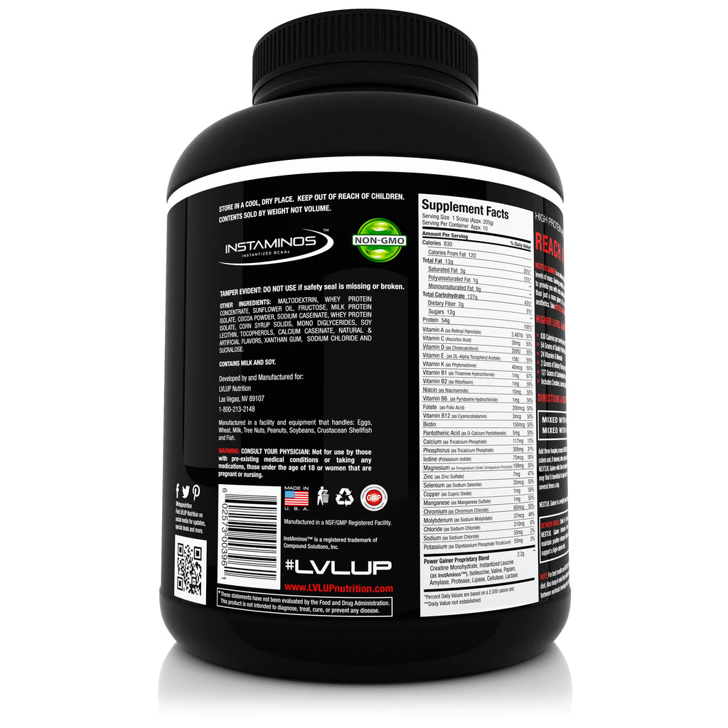 NEXTLVL GAINER - Weight Gainer Supplement