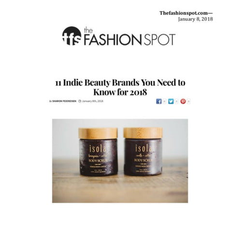 11 Indie Beauty Brands You Need to Know for 2018 Isola