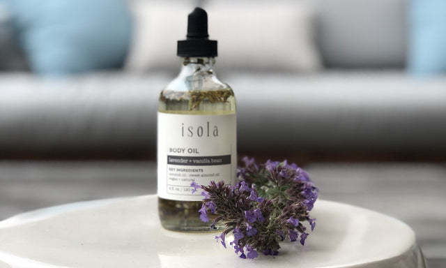 Isola Lavender Vanilla Bean Body Oil Natural Vegan Cruelty Free