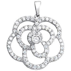 3/4 ct tw High Fashion Pendant with Stunning F Color VS Clarity Diamonds