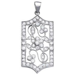 1 ct tw High Fashion Pendant with Stunning F Color VS Clarity Diamonds