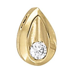 1/20 ct tw GIA Certified Diamond Solitaire Pendant with F Color VS Clarity Diamond